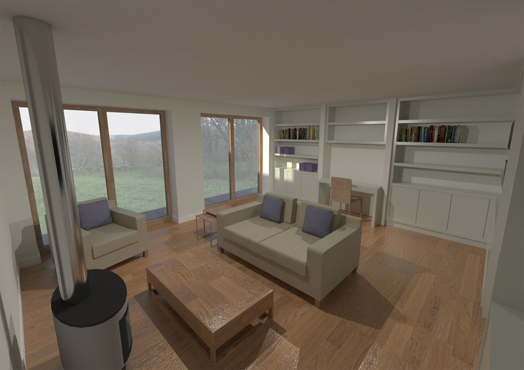 New energy efficient house in Ballogie Aberdeenshire designed by www.jamstudio.uk.com - 3D concept image - Snug