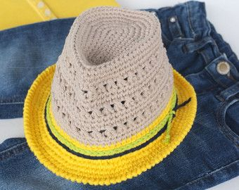 Infant Fedora Hat Unisex Baby Shower Gift Newborn Photo Props Crochet Summer Hats For Boys And Girls Cotton Sun Toddler Hat Cute Trilby Hat