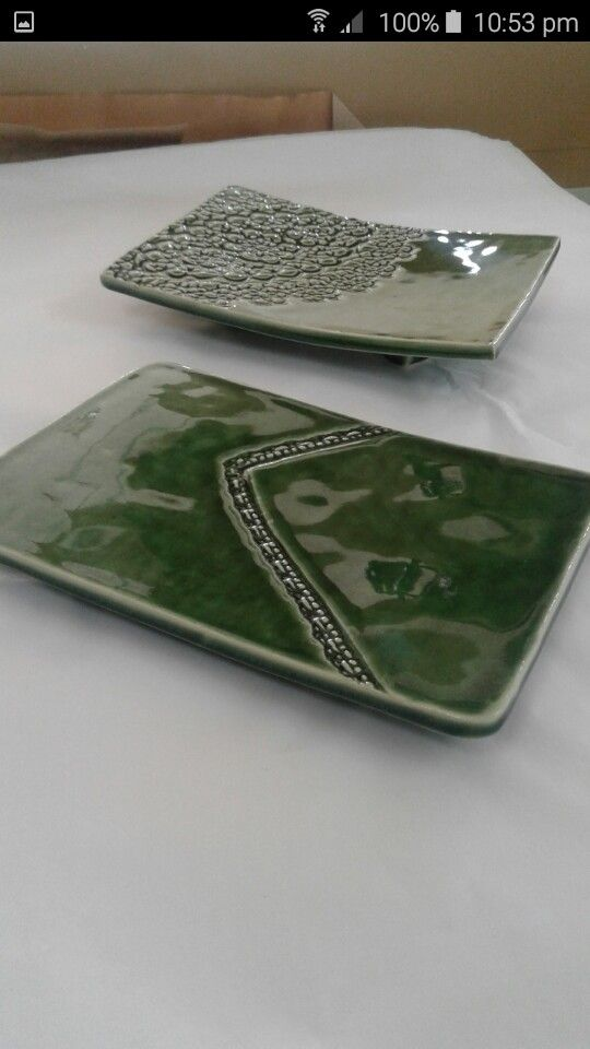 Platters by Sarah  West Melton Pottery