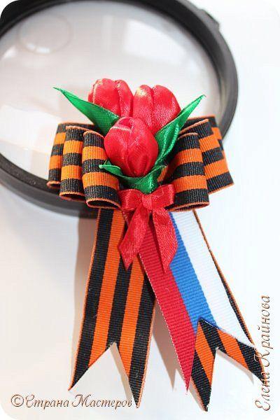 Георгиевская ленточка ко Дню Победы (тюльпаны)