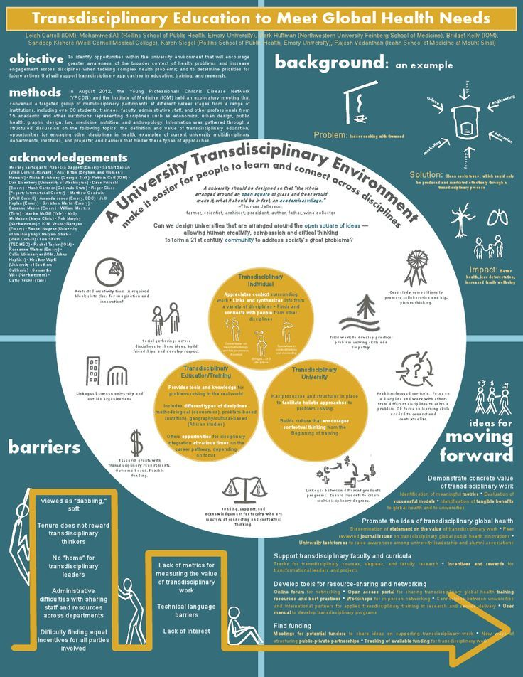 Innovative Poster Highlights Work Towards Trans Disciplinary Education For Global Health Education Scientific Poster Design Academic Poster Medical Posters