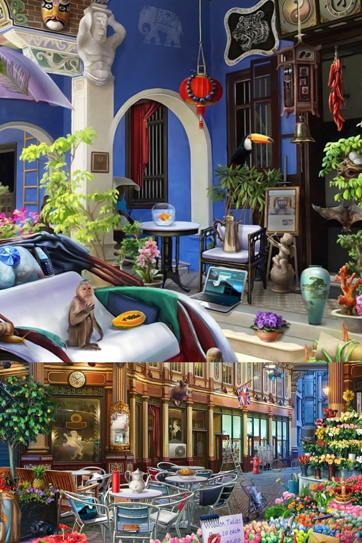 2D environment design for hidden objects game in 2020
