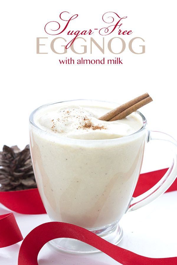 Low Carb Sugar-Free Eggnog Recipe. Keto THM Atkins recipe. Can be made dairy-free too! via @dreamaboutfood