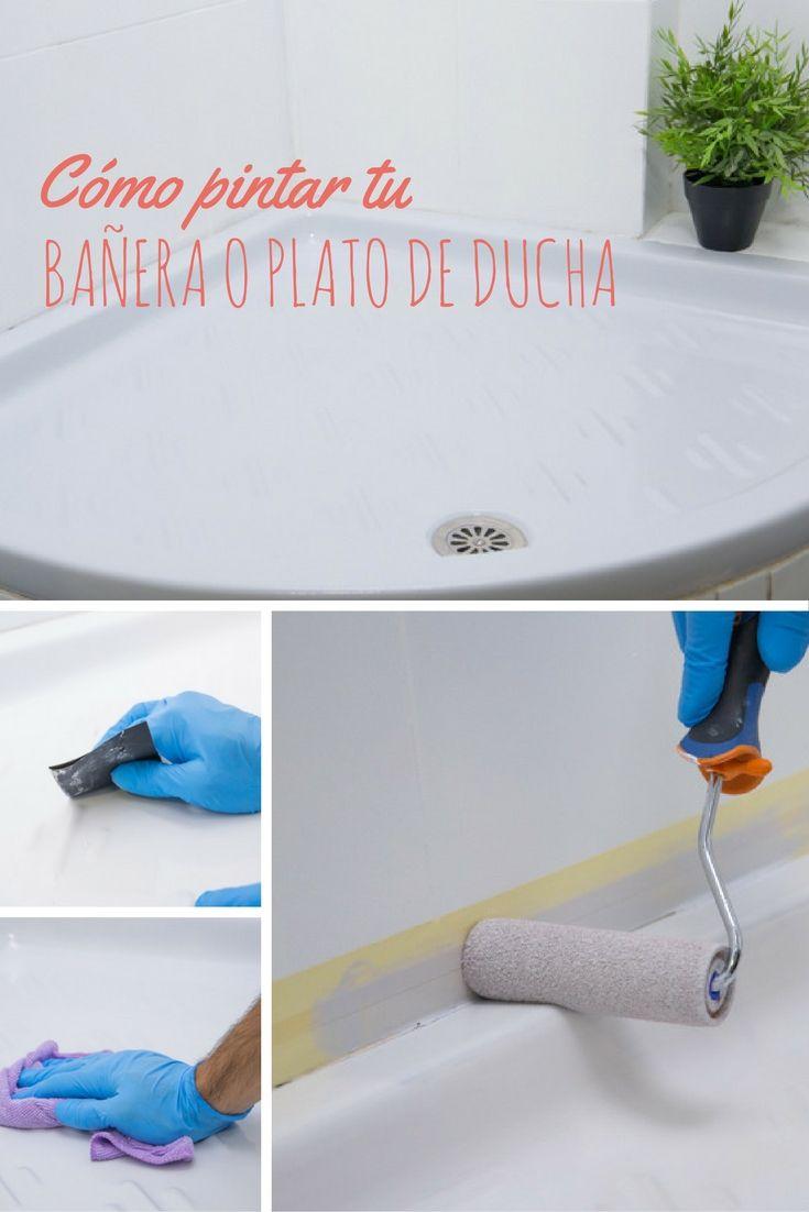 Cómo pintar tu bañera o plato de ducha ➜ Aprende cómo aplicar un esmalte de renovación a tu bañera y ¡déjala como nueva!  #DIY #Bricolaje #Bañera #Duchas #Pintura #Esmalte #Sanitarios #V33