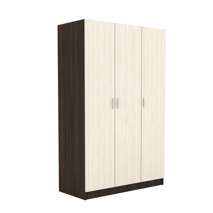 3 Door wardrobe Deco 9 wenge-oak 120x52,5x191