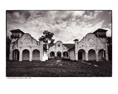 """""""Old Booth School, Fort Bend County, TX"""" by Tommy Lavergne, digital photographic print, 2012, 16""""x20"""" www.thornwoodgallery.com"""