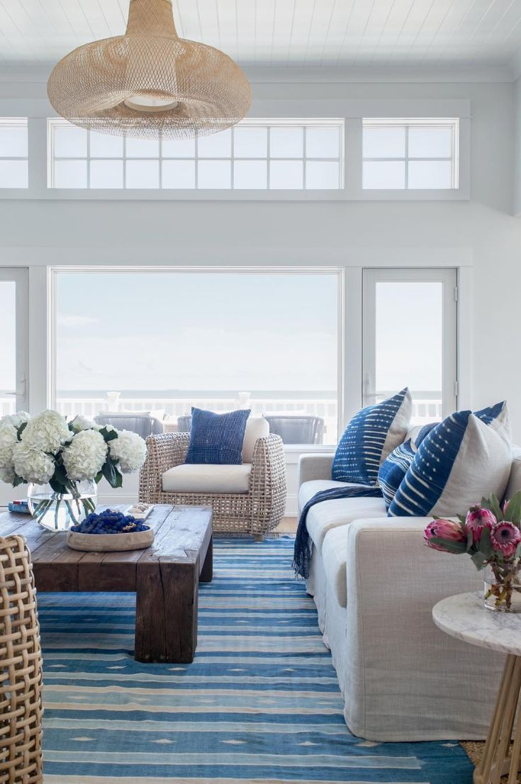 33 The Most Inspiring Living Room Idea 2019 Page 8 Of 33 My Blog In 2020 Beach Living Room Beach House Interior Coastal Living Rooms