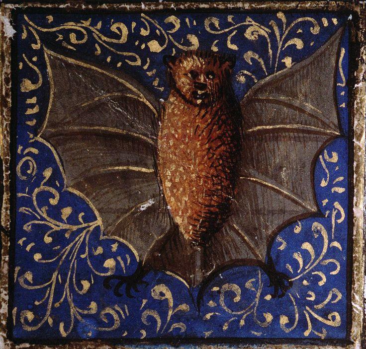 on the properties of the bat Bartholomeus Anglicus, 'Livre des propriétés des choses' ('De proprietatibus rerum', French translation of Jean Corbechon), Paris 1447 Amiens, Bibliothèque municipale, ms....
