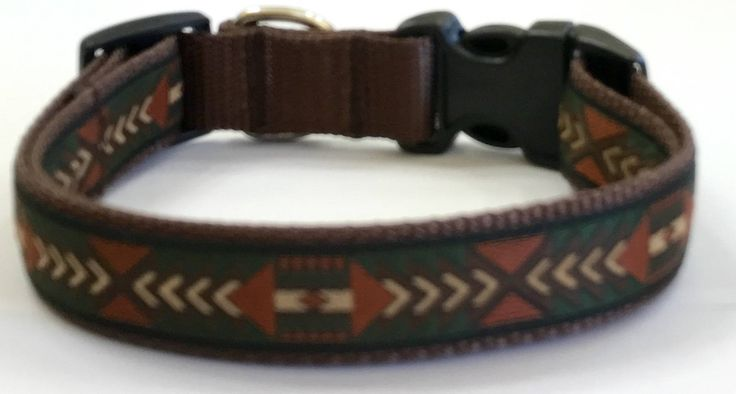 Dog Collar:Aztec/Southwestern Jacquard Ribbon Dog Collar, Designer Dog Collar, Custom/Puppy/Adult/Pet Collars,Pet Supplies,Veterinary Gift by TwistnShoutDesigns on Etsy