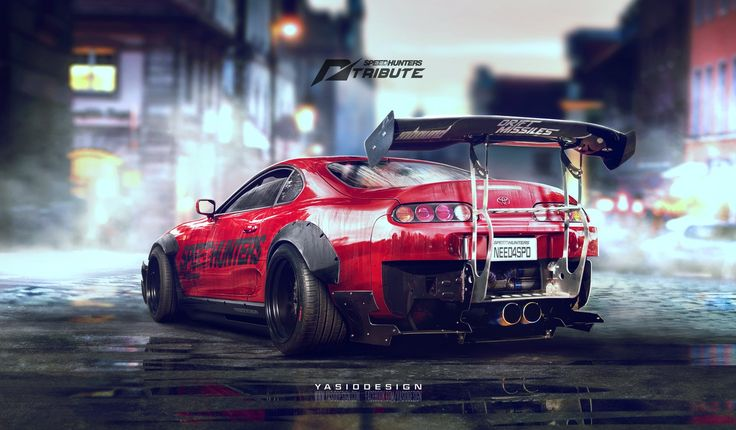Speedhunters Toyota Supra - Need for speed tribute, Yasid Oozeear on ArtStation at https://www.artstation.com/artwork/speedhunters-toyota-supra-need-for-speed-tribute