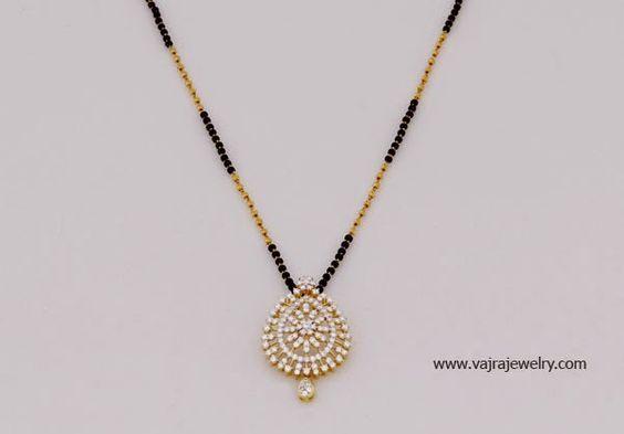 short black beads mangalsutra: