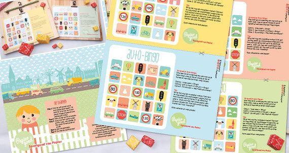 Auto-bingo, niet meer vervelen tijdens de reis. Voor eindeloos autoplezier! | © Papiergoed
