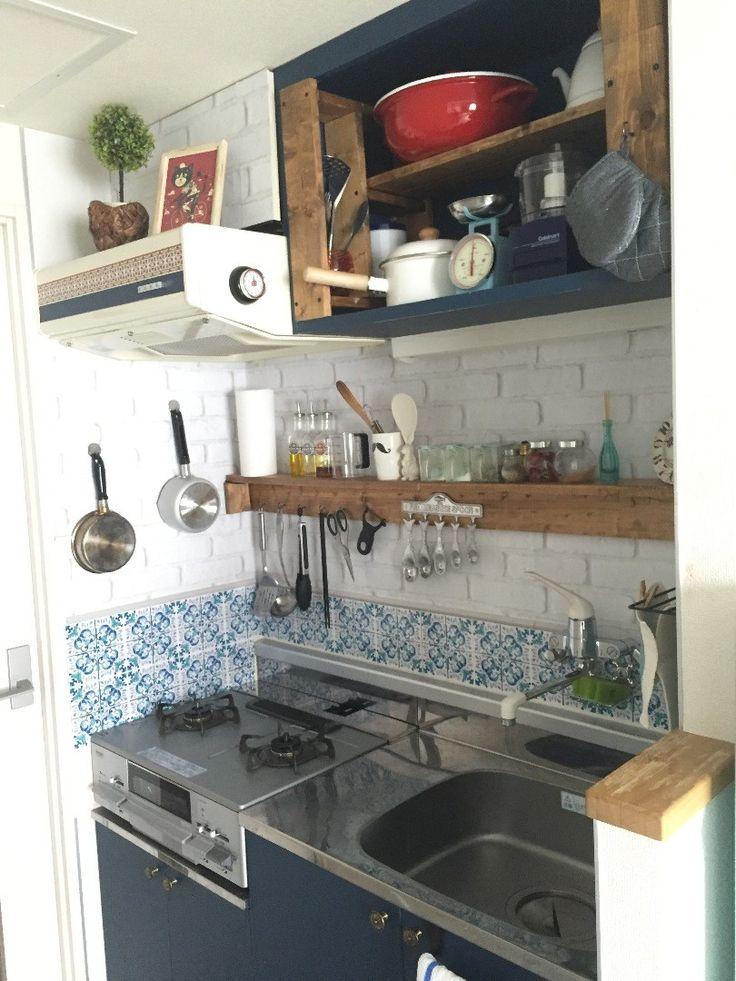 ごく普通の賃貸キッチンを、外国のアパート風に改造したよ!|LIMIA (リミア)