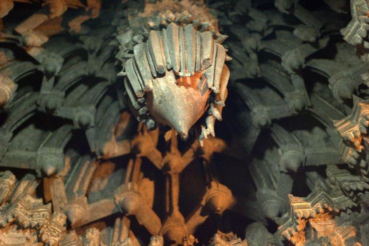 Detail of a hoysala temple ceiling from south Karnataka