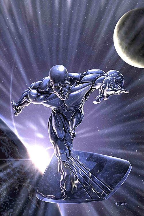 Silver Surfer from Fantastic Four movies
