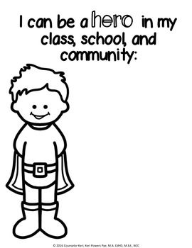 Superhero Kindness Classroom Guidance Lesson for