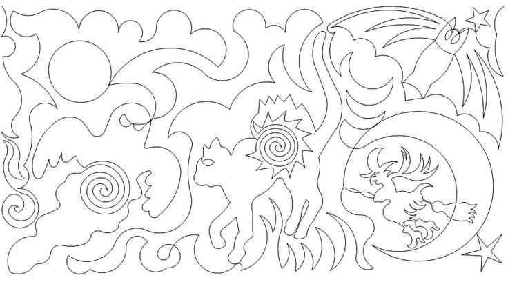 Halloween 02 Machine Quilting Patterns Quilt Patterns