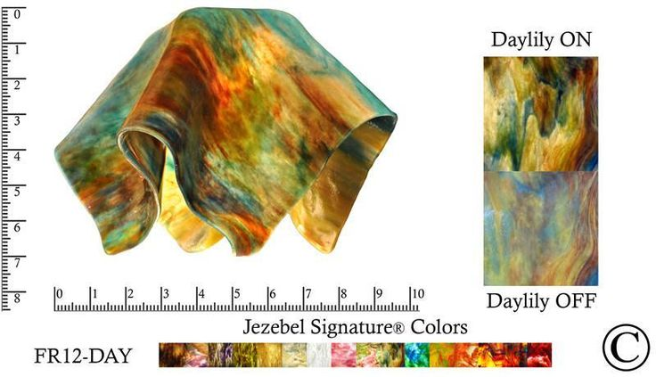 "Jezebel Signature® Small Flame Daylily Glass Pendant Replacement Glass Shade, 1 5/8"" hole"