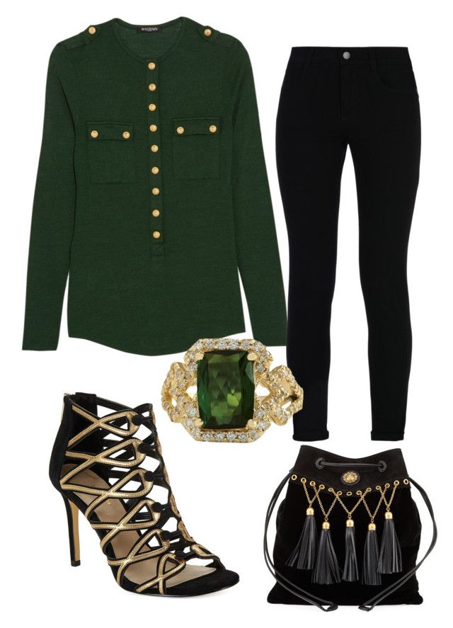 Untitled #669 by cathatin on Polyvore featuring polyvore, fashion, style, Balmain, STELLA McCARTNEY, 424 Fifth, Miu Miu and clothing