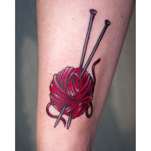 16 Delightful Knitting Tattoos | Tattoodo