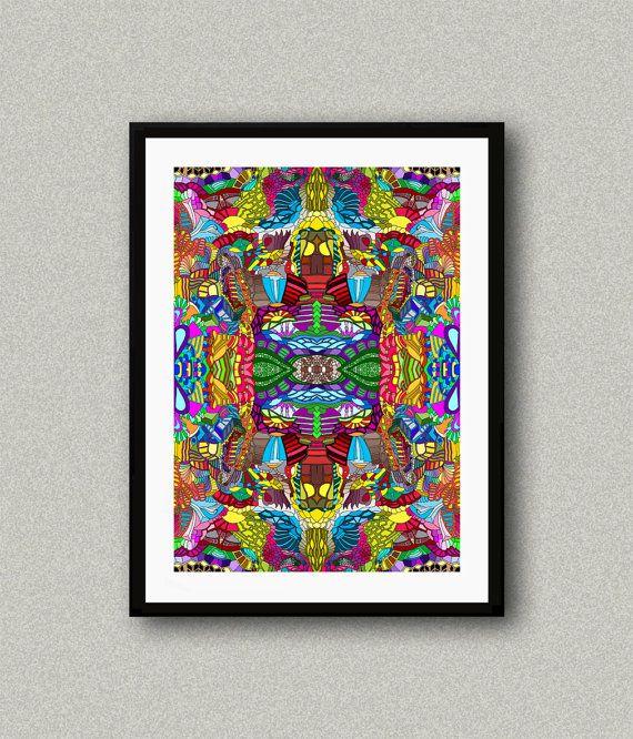 C009 Abstract art print Art poster Modern art by WhitePaperArt