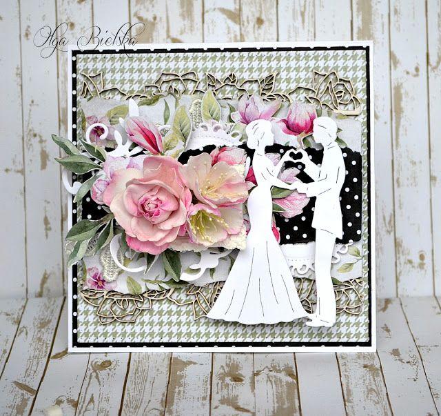 Białe Kruczki ślubna Z Papierów Hello Beautiful Kartki ślubne