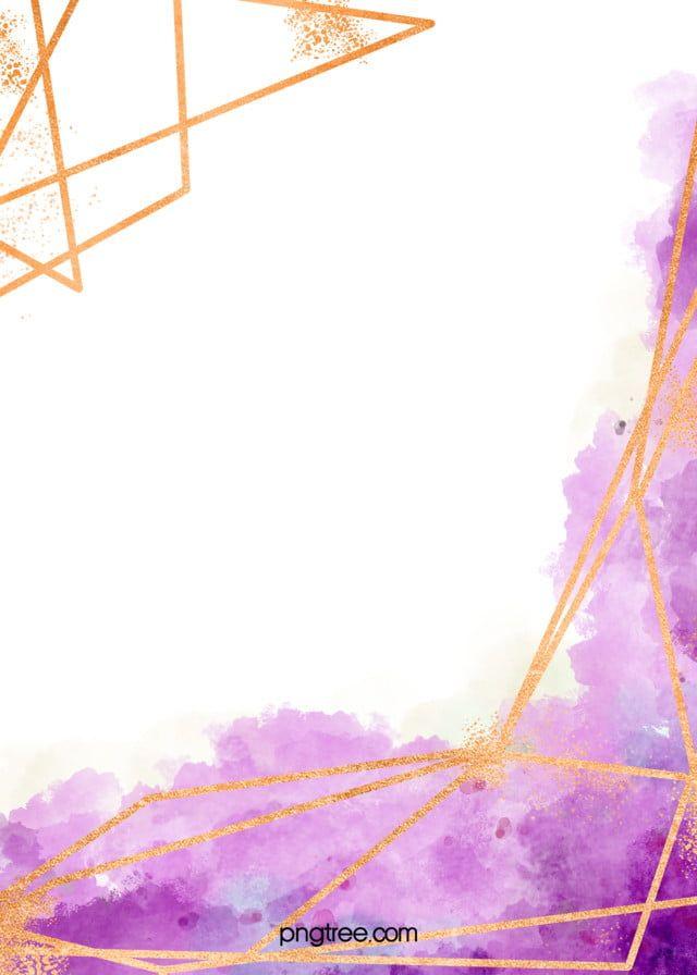 ألوان مائية تجعل الخط الذهبي الحدود خلفية بنفسجية Purple Background Images Background Images Purple Backgrounds