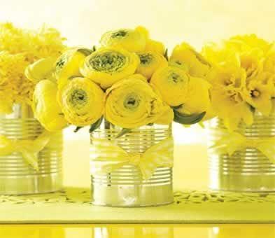 Bruiloft stijl Geel