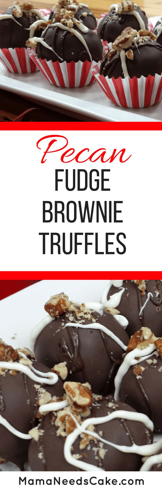 Pecan Fudge Brownie Truffles Recipe (Video Tutorial) -Everyone enjoys a delicious brownie but how about a brownie rolled into a ball with cream cheese and dipped in milk chocolate? Better yet... sprinkled with pecans!