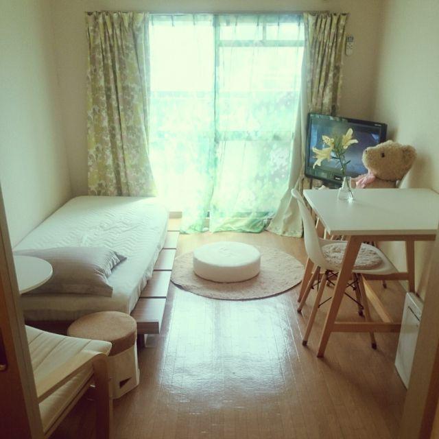 w_fox0713さんの、部屋全体,ナチュラル,IKEA,一人暮らし,1人暮らし,1K,シンプル,賃貸,ひとり暮らし,築20年以上,のお部屋写真