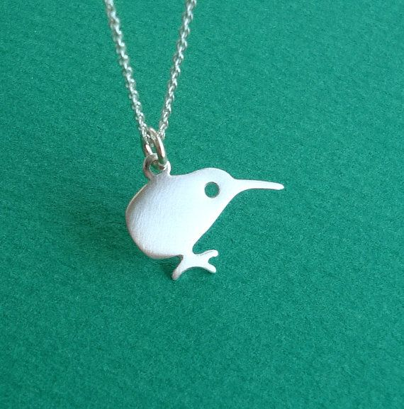 Kiwi Bird Necklace Small Pendant Sterling Silver Kids Teen Women BF mom Christmas  Animal Jewelry Cute New Zealand Halloween on Etsy, $24.00.  Cute!