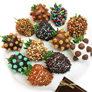 Yummy Toppings Strawberries 12Pc: Great Gift