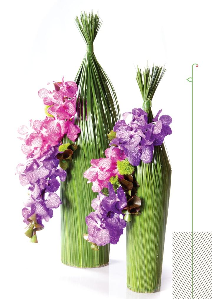 Dazzling twins flower arrangement with Vanda flowers