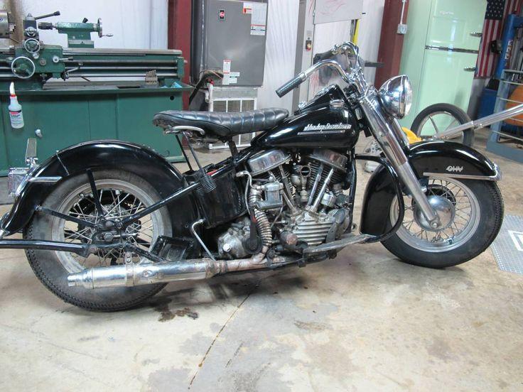 1952 Harley-Davidson FL Panhead vintage motorcycle for sale via Rocker.co