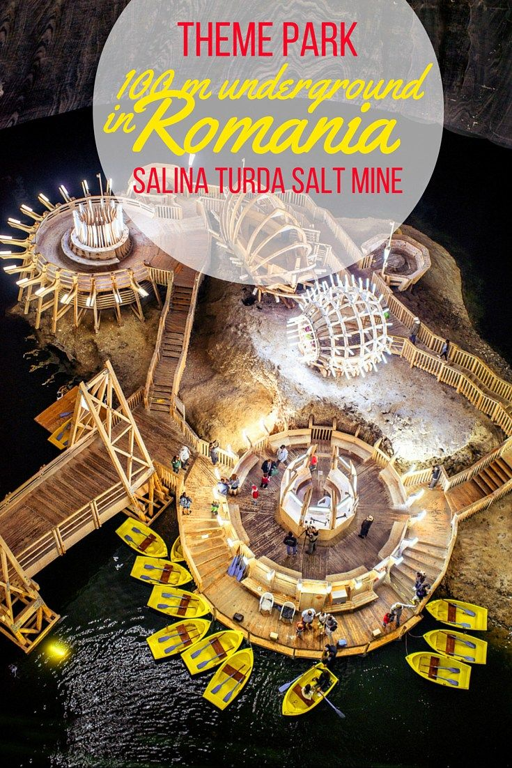 Theme Park 100 m underground in Romania. Salina Turda Salt Mine