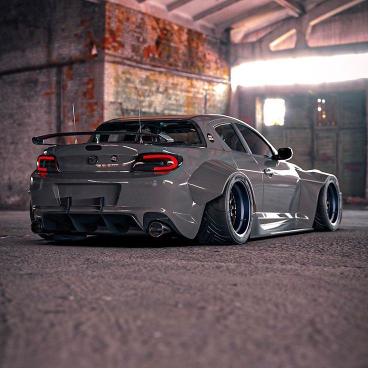 """Mazda RX8 """"Gray Ghost"""" Has Window Delete and Widebody"""