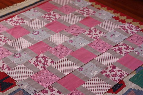 Quick quilt with no points to match