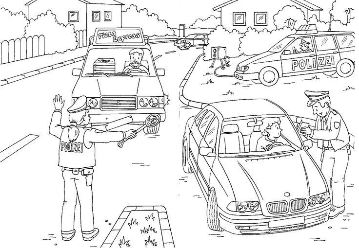 38 besten Polizei Ausmalbilder Bilder auf Pinterest   Polizeiautos ...