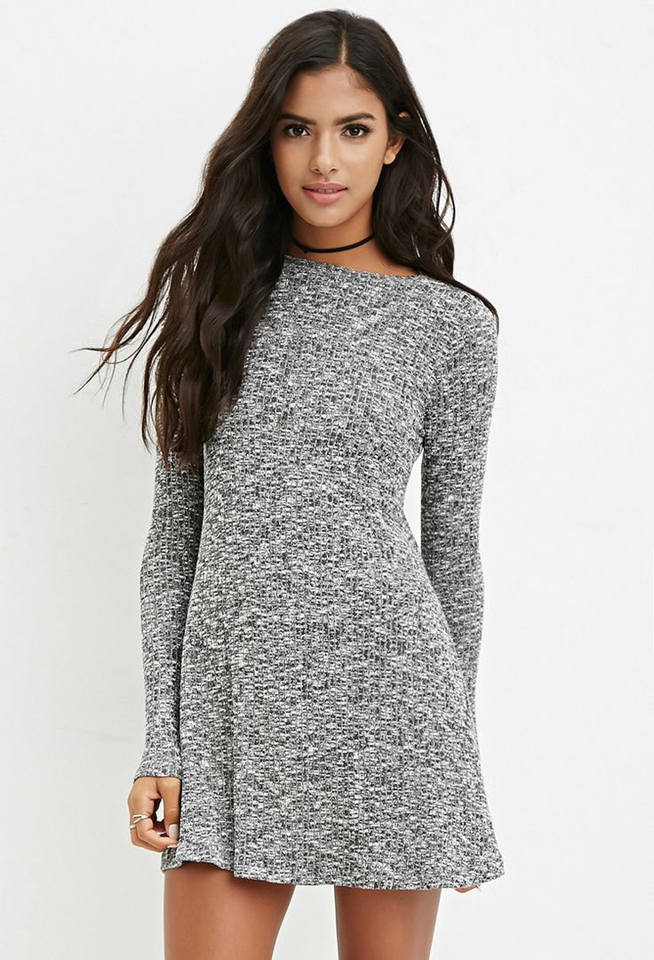 Ribbed Knit Marled Dress | Forever 21 - 2000174511