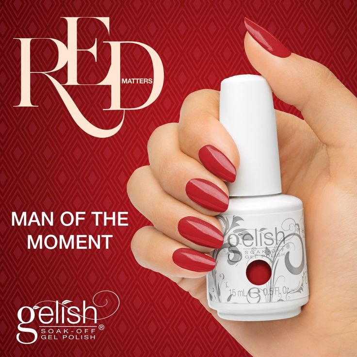 Gelish Man of The Moment from the Red Matters Collection. Available now on auswax.com.au