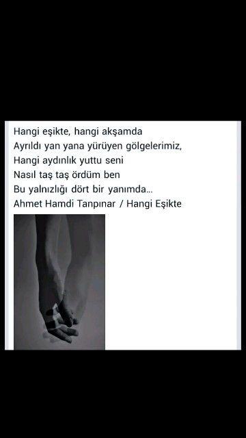 Hangi eşikte, hangi akşamda Ahmet Hamdi Tanpınar