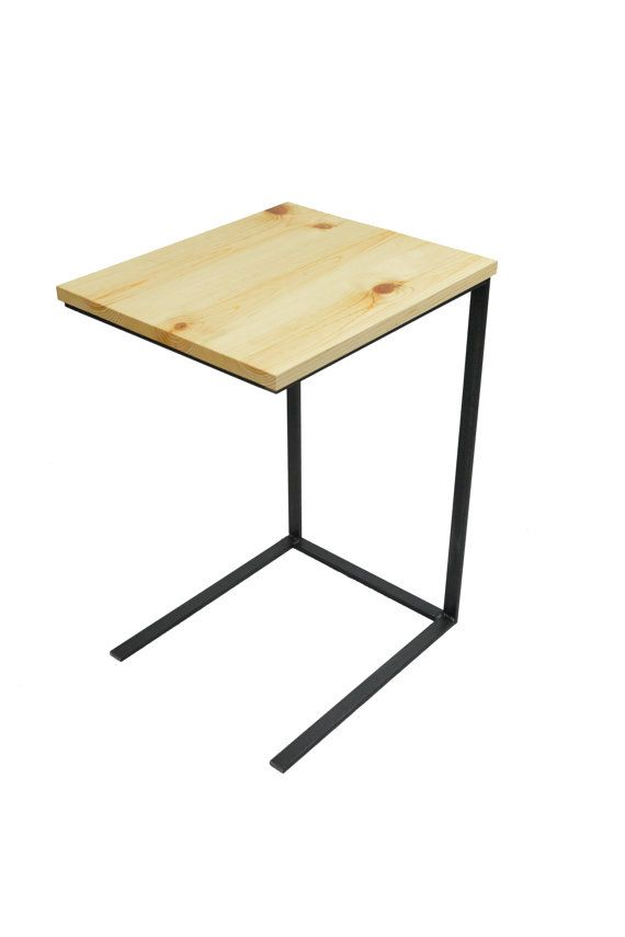 This Reclaimed Wood And Metal TV Tray Table Has Many Uses