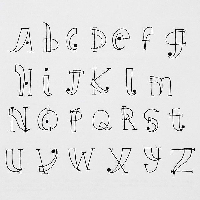 hand lettering alphabets - Google Search