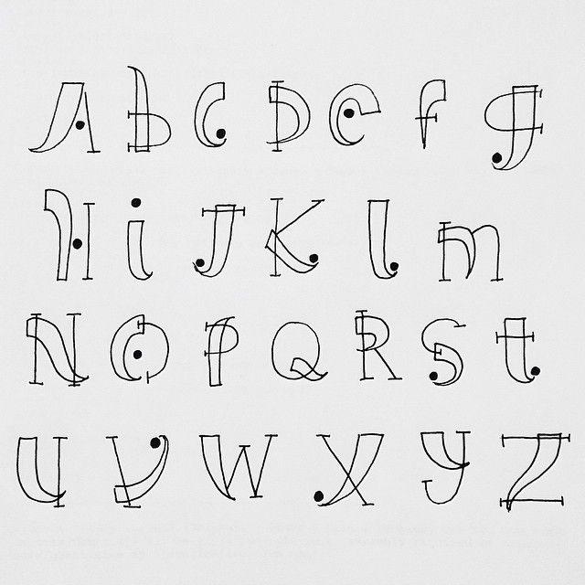 handlettering alphabet - Google zoeken