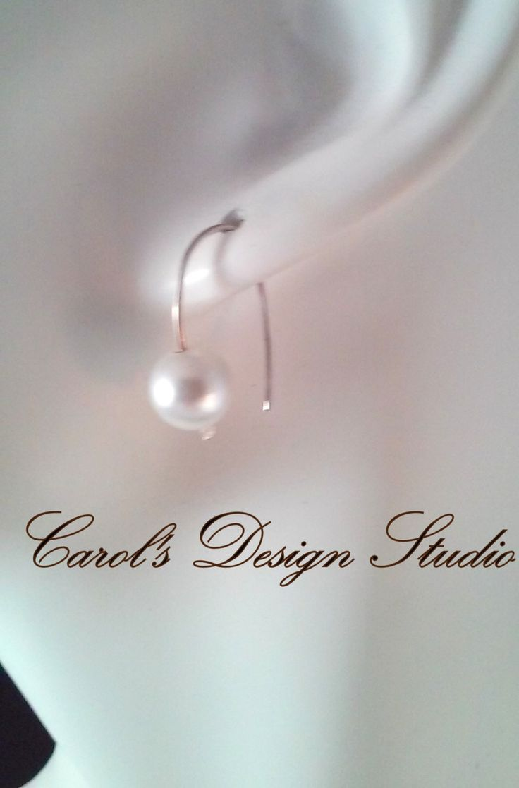 Crystal Pearl and Sterling Silver Earrings #etsy #handmade #design #gifts