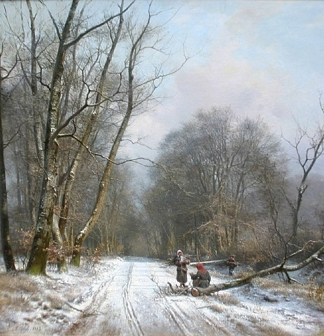 Frederik Niels Martin Rohde, Winter Day in a Forest