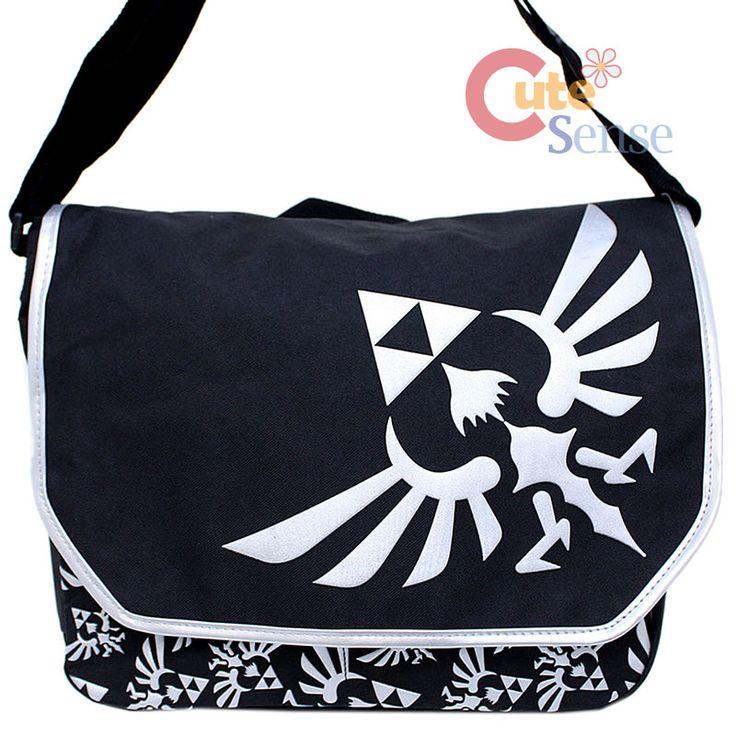 legend of zelda laptop bag | ... Legend OF Zelda TRI Force Logo Messenger BAG Laptop Carry BAG | eBay