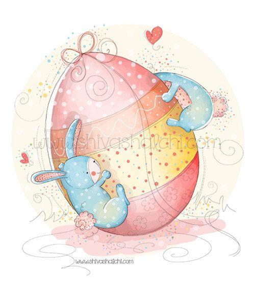 Illustrazione di bambini - coniglio e uovo amore, Pasqua di ShivaIllustrations su Etsy https://www.etsy.com/it/listing/152418667/illustrazione-di-bambini-coniglio-e-uovo