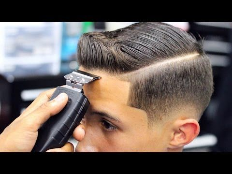 Disconnected Undercut ★ College Haircut For Guys, Thick Wavy Combed Back Haircut Tutorial - YouTube