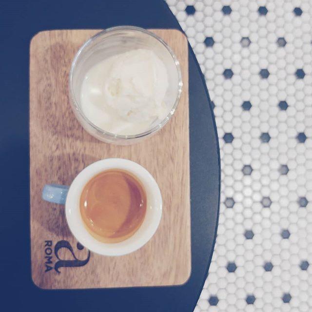 Who's the real hero? The coffee or the ice cream? . # #kopi #coffee #coffeetime